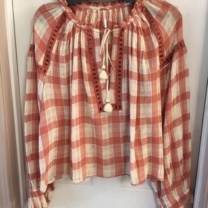 Free people blouse. Size Med. NWT